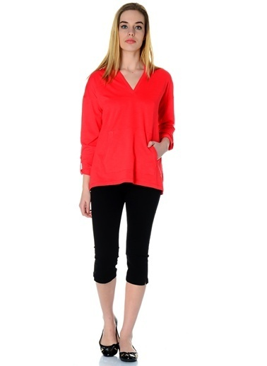 Asymmetry Sweatshirt Kırmızı